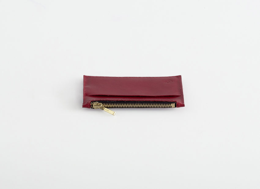 Lederportemonnaie klein rot, small leather wallet red