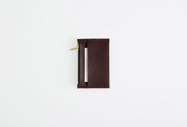 Lederportemonnaie klein bordeaux, small leather wallet bordeaux