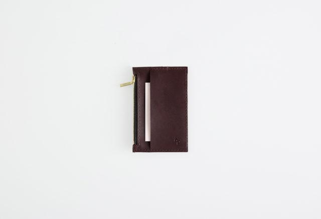 Lederportemonnaie klein bordeaux, small leather wallet bordeaux