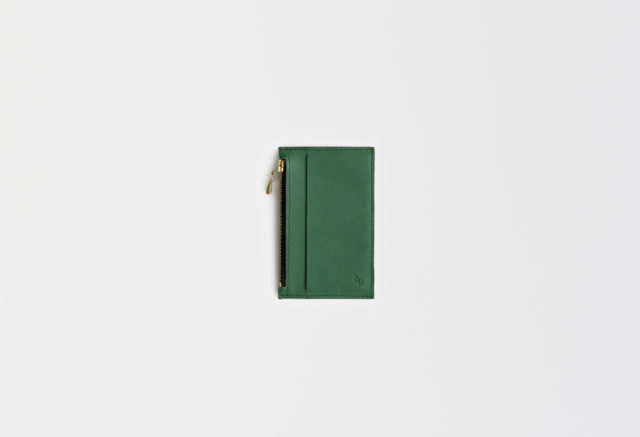 Lederportemonnaie klein grün, small leather wallet green