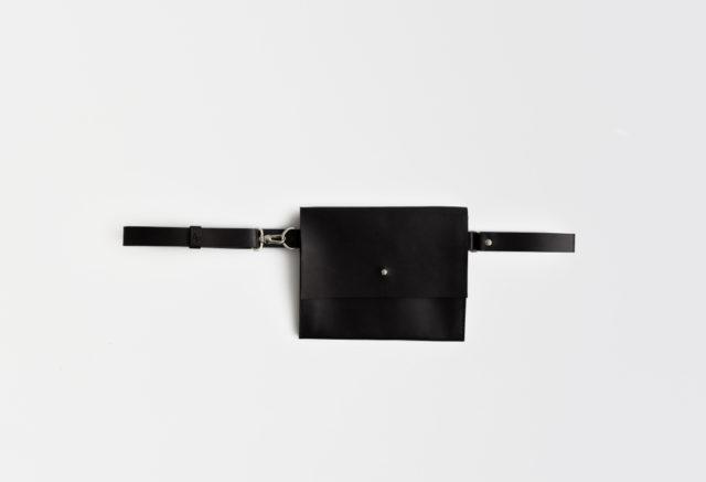 Gürteltasche Leder, schwarz, Hüfttasche, fanny pack, leather, belt bag, black