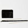 kleine Umhängetasche aus Leder schwarz , mini crossbody leather black