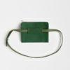 Leder Gürteltasche, Hüfttasche grün- leather belt bag green