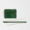 kleine Umhängetasche aus Leder grün , mini crossbody leather green