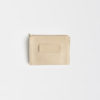 clutch aus Leder natur , clutch leather ivory