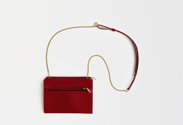 kleine Umhängetasche aus Leder rot , mini crossbody leather red