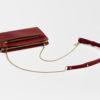 kleine Umhängetasche aus Leder rot , mini crossbody leather red
