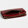 Leder clutch, rot - leather clutch red