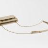 kleine Umhängetasche aus Leder scnatur , mini crossbody leather ivory