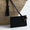 Korbtasche, Basket Bag, Lederhenkel, Ibiza Tasche, Strandtasche, Markttasche