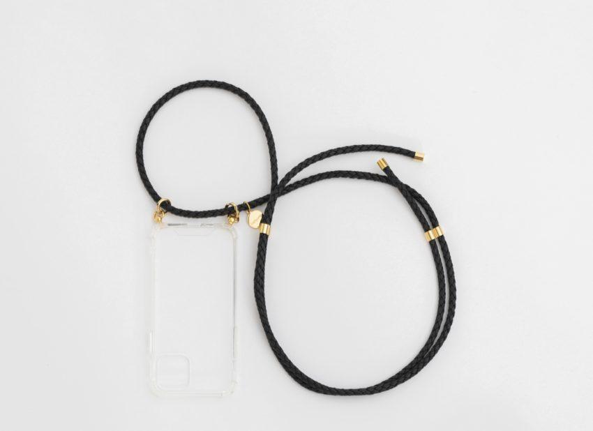 handyhülle mit band handykette schwarz iPhone necklace black