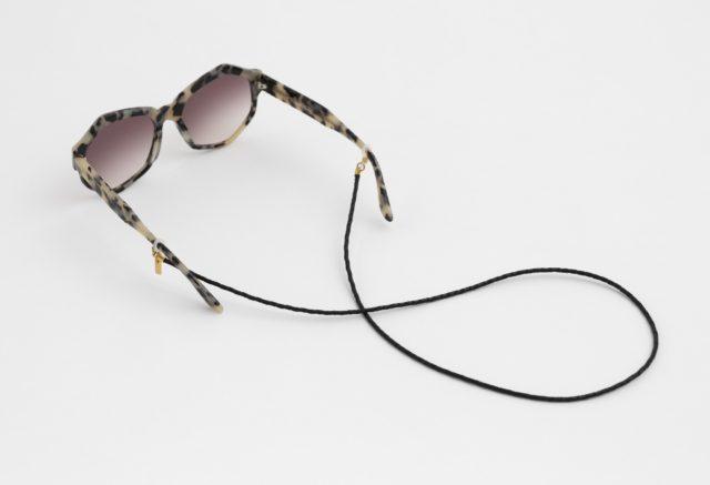 brillenband leder schwarz