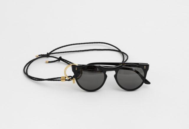 Brillenkette aus leder schwarz