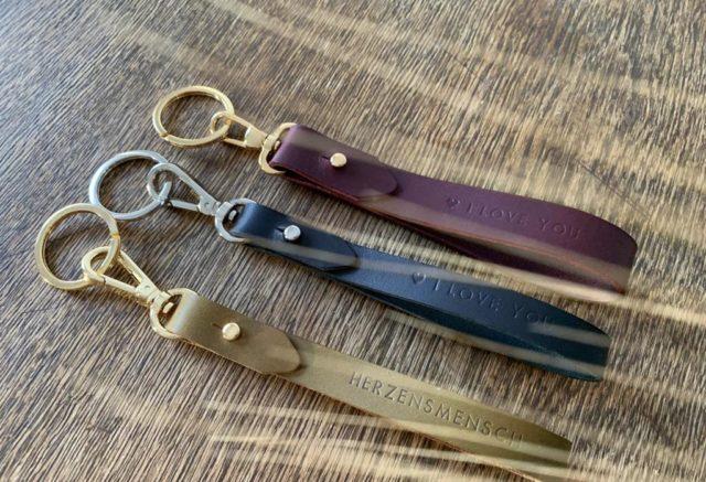 personalisierter SchlüsselAnhänger Leder