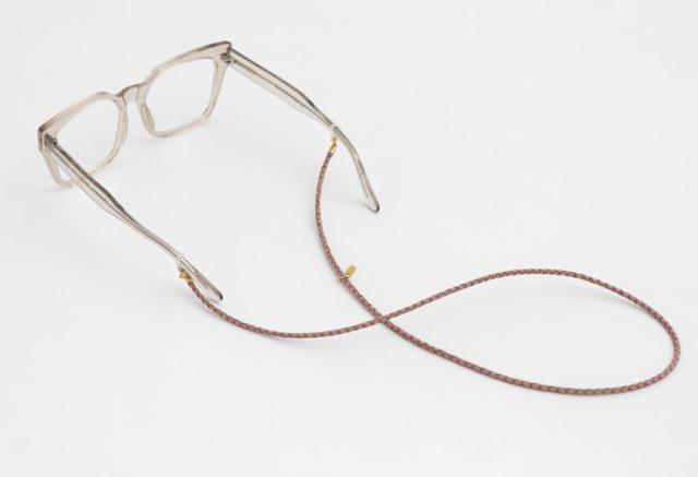 brillenband leder rosa